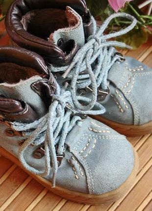Зимние кожаные замшевые ботинки на меху code 28р
