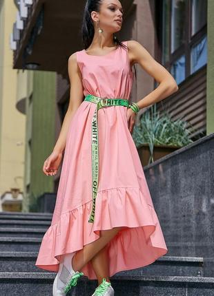 Повседневное летнее платье, коттон