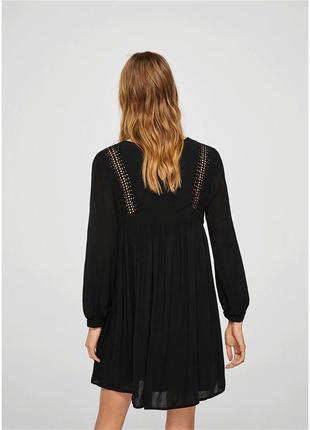 Легкое свободное платье сукня жатка с кружевом