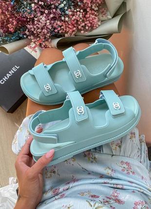 Dad sandals blue женские сандалии босоножки голубые мятные жіночі сандалі босоніжки голубі