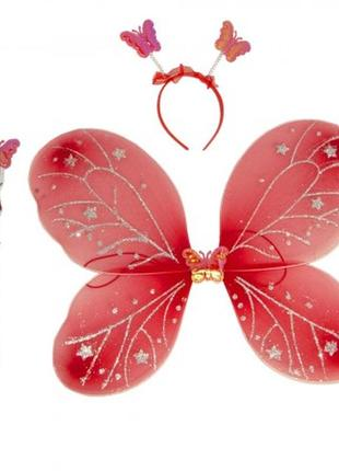 Костюм бабочки феи набор красный