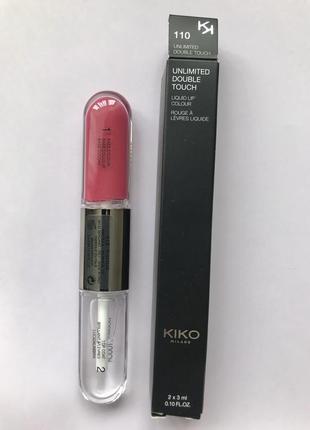 Рідка матова помада unlimited double touch 110 kiko milano