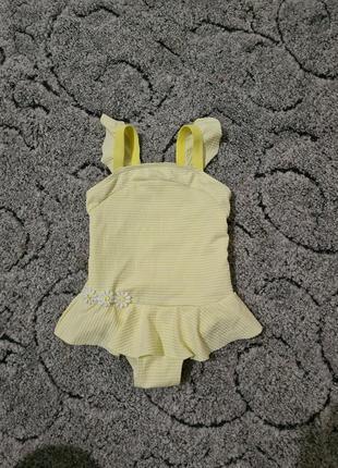 Красивый лимонный купальник для девочки