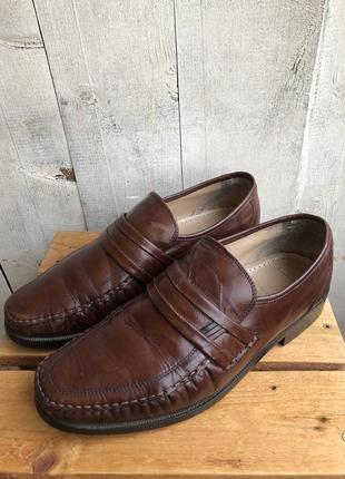 Clarks туфли кожаные