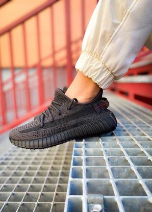 Новинка кроссовки унисекс adidas yeezy boost 350 v2 static black reflective наложка