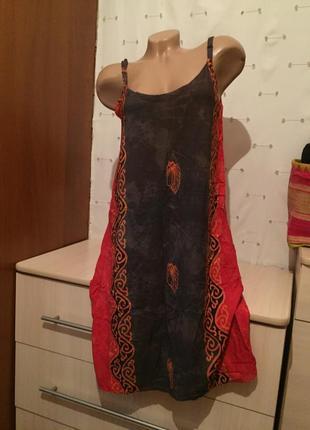 Удобный легкий сарафан / платье на бретельках
