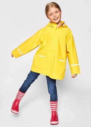Красивый жёлтый дождевик/дощовик playshoes для девочки .