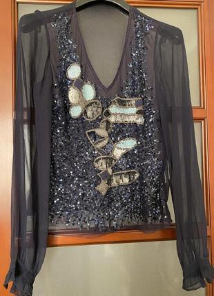 Шикарна брендова вечірня  блуза