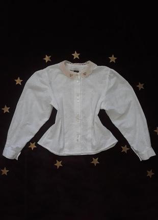 Винтажная блуза, ажурная, original alpen trachten