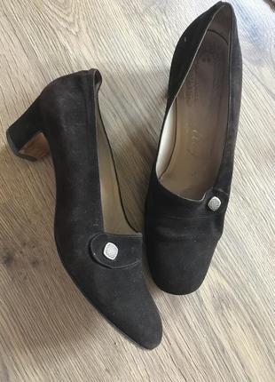 Туфли винтаж натуральная замша и кожа за 190 евро made in italy