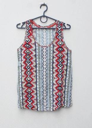 Легкая блузка в орнамент  из вискозы