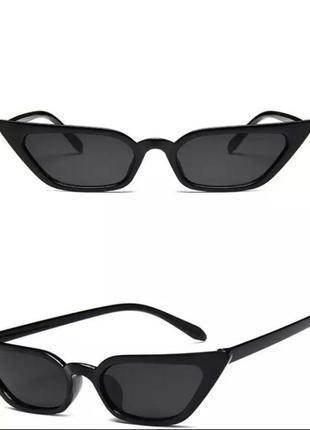 Узкие имиджевые солнцезащитные очки