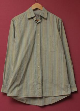 Lacoste 38 m-l рубашка из хлопка структурного плетения
