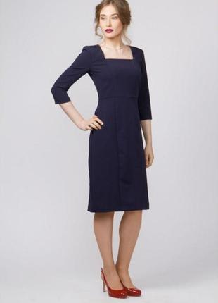 Вечернее платье с длинным рукавом синее размер xl little mistress london
