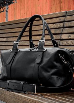 Кожаная спортивна сумка, дорожная сумка из винтажной кожи