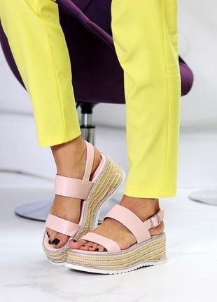 Плетенки босоножки 🌿 платформа сандалии танкетка2 фото