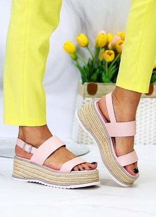 Плетенки босоножки 🌿 платформа сандалии танкетка3 фото