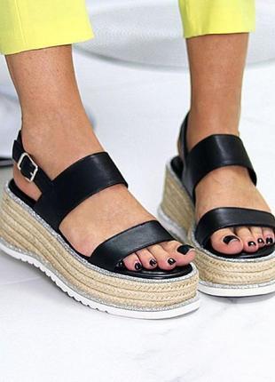 Плетенки босоножки 🌿 платформа сандалии танкетка