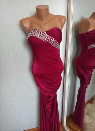 Платье вечернее стразы камни шикарное