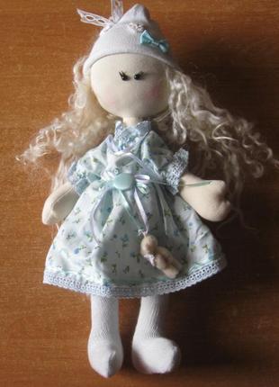 Кукла тильда, интерьерная. мягкая. классная.