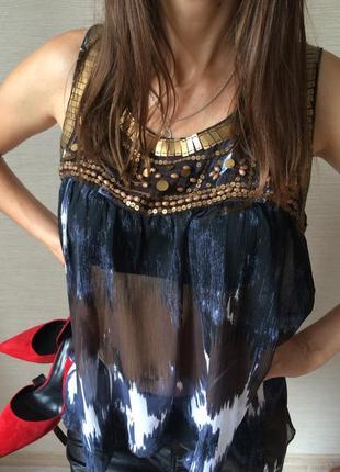 Блуза  шифоновая без рукавов