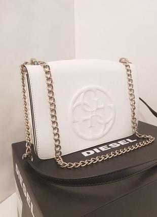 Шикарная брендовая сумка crossbody guess ручка цепочка