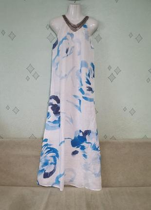 Натуральное льняное платье сарафан.новое