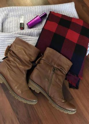 Сапожки, ботинки зимние натуральная кожа,кожаные сапоги