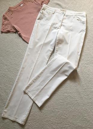 Белые брюки штаны со стрелками brax