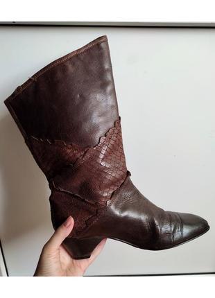 Шкіряні чобітки 37 р. (24 см)