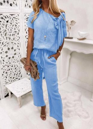 Голубая,лён блуза,туника реглан,этно бохо стиль италия