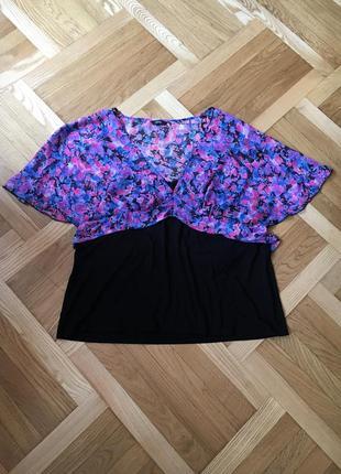 Батал большой размер легкая летняя блуза блузка блузочка футболка