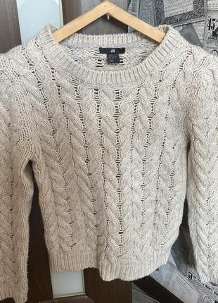 Шерстяной свитер от h&m