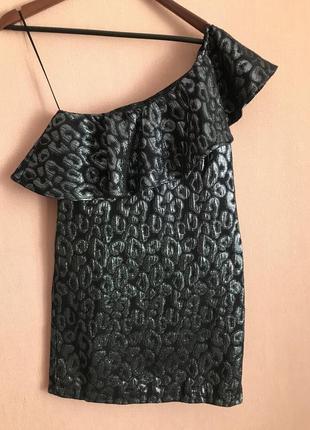 Шикарное платье mango на одно плечо