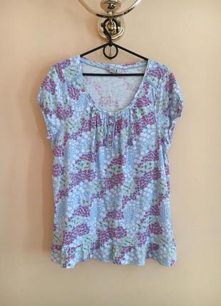 Батал большой размер легкая летняя футболка футболочка блуза хлопковая