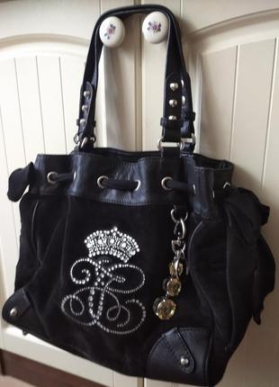 Стильная  бархатная сумка,сумочка juicy couture