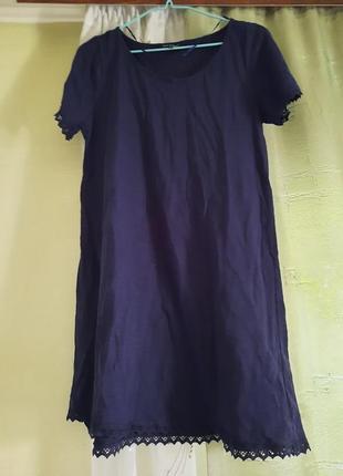 Платье легкое трикотажное а-силуэт