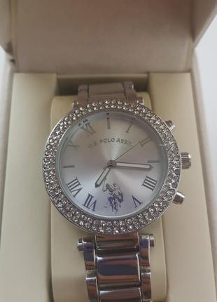Часы u.s. polo ladies silvertone