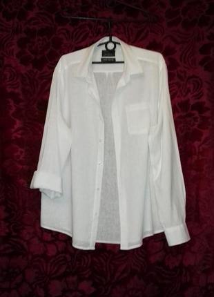 Рубашка белая брендовая, чистый котон