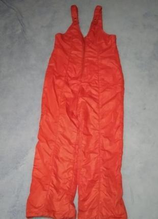 Лижні зимові теплі штани зимние лыжные брюки штаны  полукомбинезон
