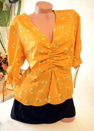 Блуза натуральная невесомая, индия, new look,не ношеные вещи, обувь в распродаже!