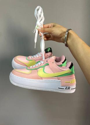 Nike air force shadow cake pee кроссовки на толстой подошве форсы