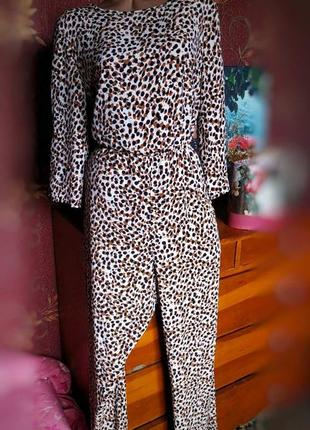 Комбинезон длинный с леопардовым принтом большого размера от george ❗уценка❗