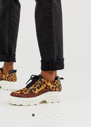 Натуральные кожаные кроссовки кроссы asos