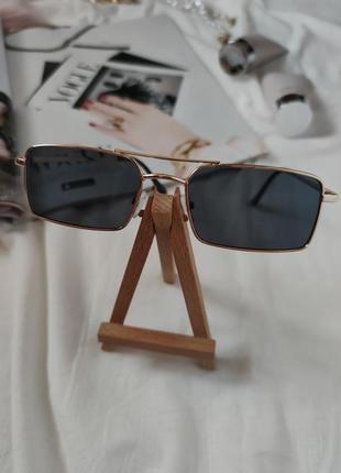 Очки окуляри стильные в стиле 90-х трендовые черные солнцезащитные новые uv4007 фото