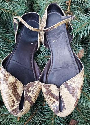 Fendi босоножки сандали питон винтаж