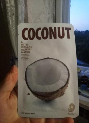 Маска для лица тканевая кокос