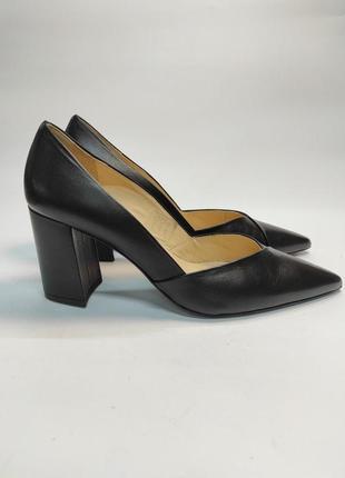Туфли кожаные hogl на каблуке вечерние лодочки премиум бренд