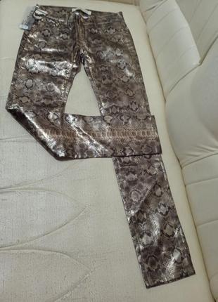 Шикарные брюки эко кожа со змеиным принтом 🔥