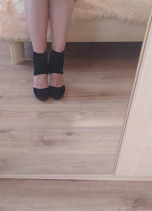 Босоножки туфли paolo conte из натуральной замши удобная платформа.размер 38-38,5